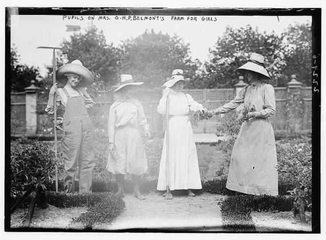 Pupils on Mrs. O.H.P. Belmont's farm for girls