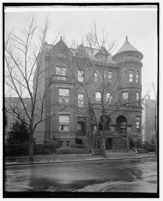 Residence, Mrs. Norman Galt, 1308 20th, [Washington, D.C.]