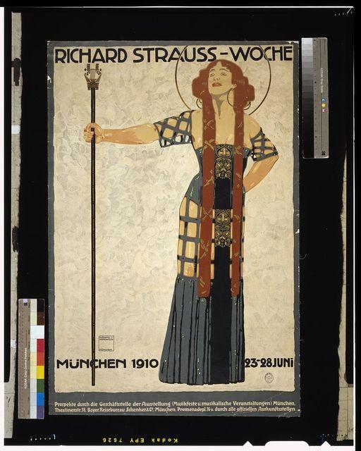 Richard Strauss-woche. München 1910 23-28 Juni / Ludwig Hohlwein München.