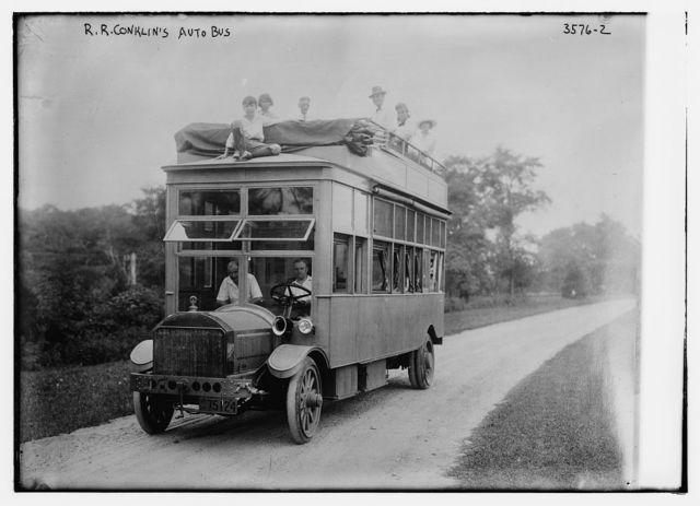 R.R. Conklin's auto bus