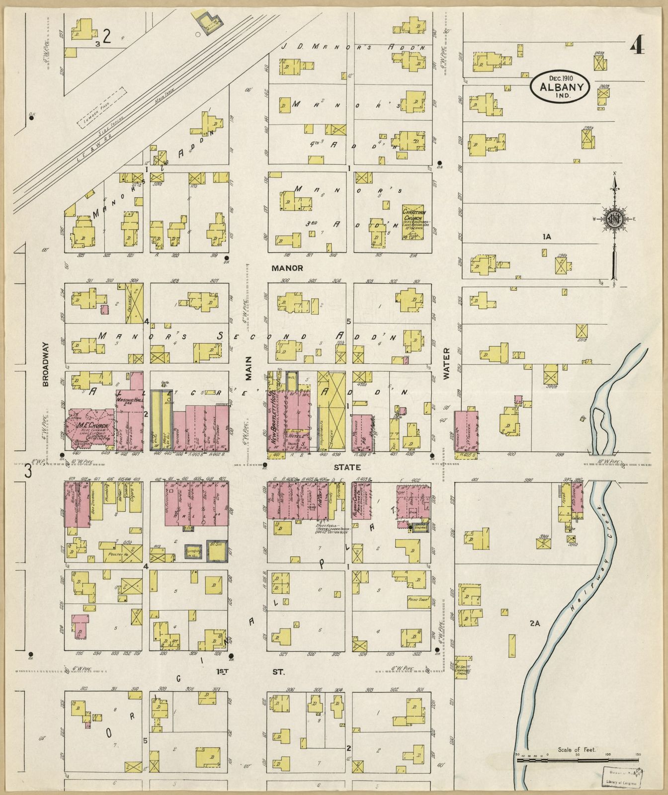 Albany Indiana Map.Sanborn Fire Insurance Map From Albany Delaware County Indiana