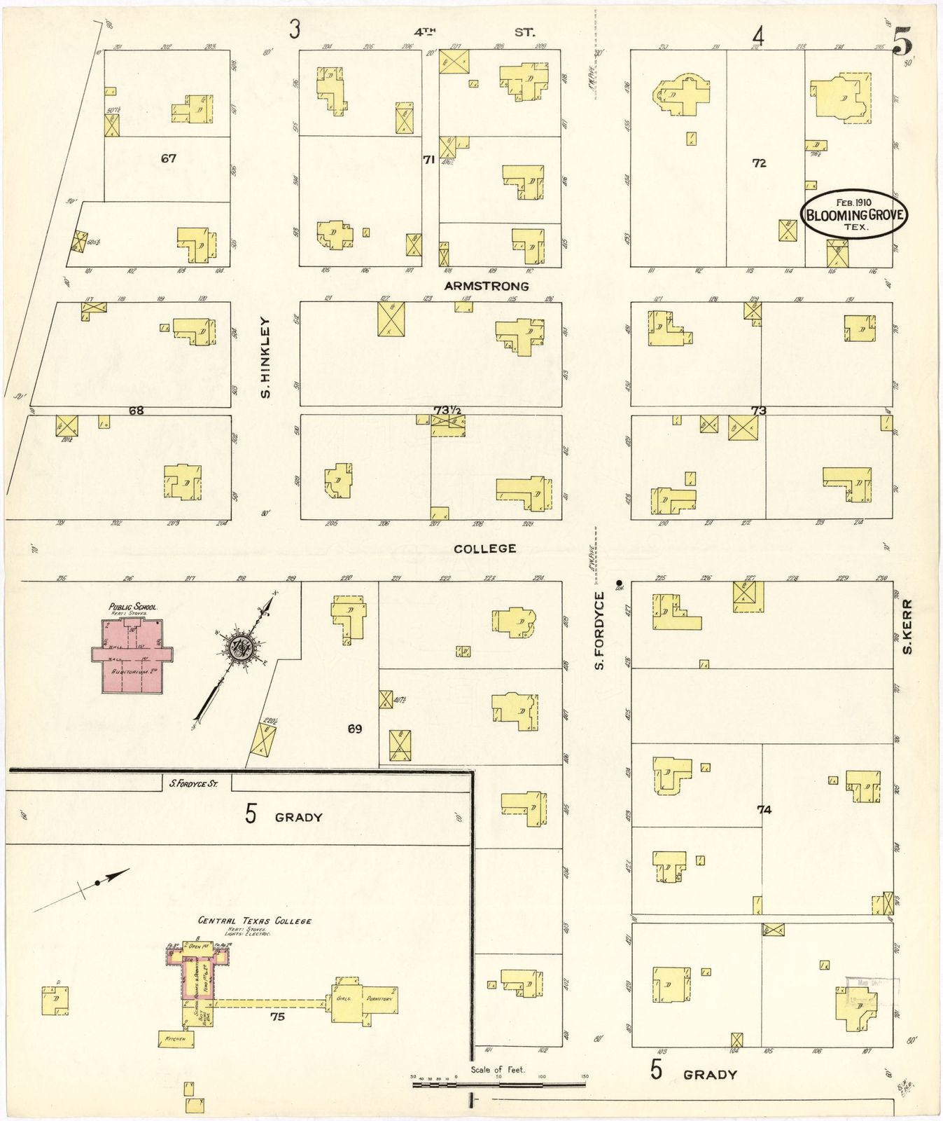 Map Of Central Texas Counties.Sanborn Fire Insurance Map From Blooming Grove Navarro County