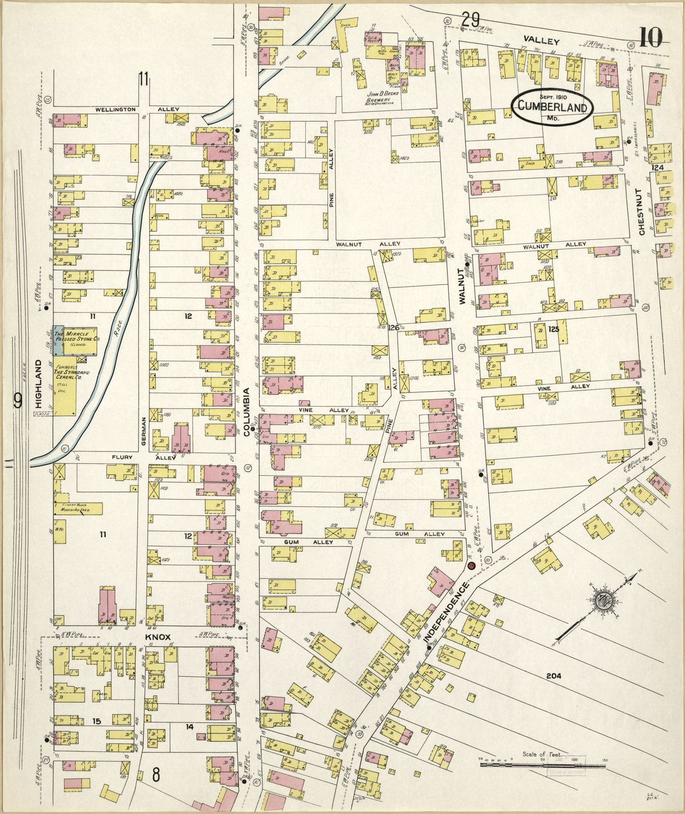Sanborn Fire Insurance Map From Cumberland Allegany County