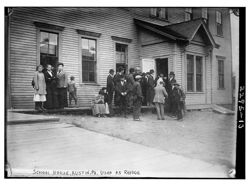 School house, Austin, Pa. Used as refuge