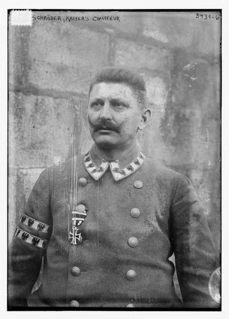 Schroder, Kaiser's chauffeur
