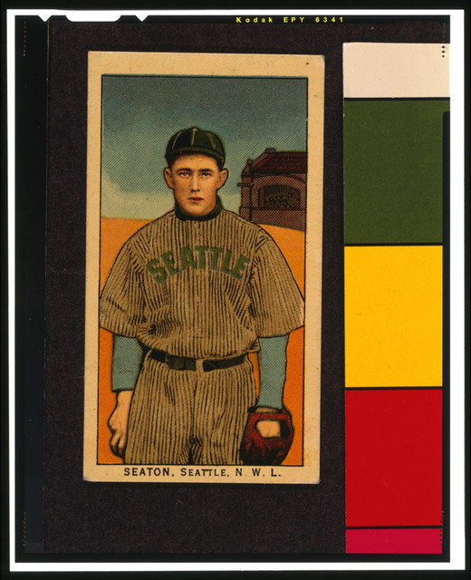 [Seaton, Seattle Team, baseball card portrait]