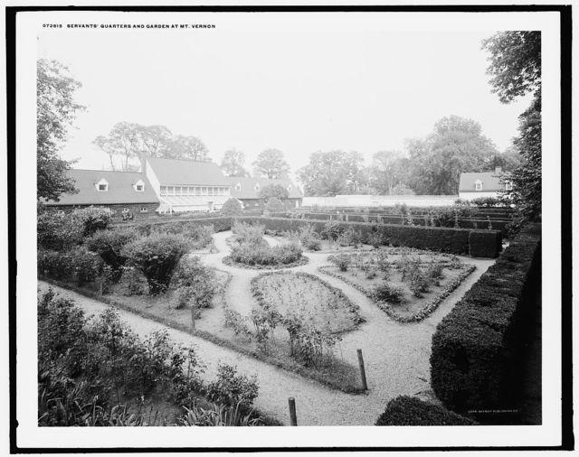 Servants' quarters and garden at Mt. Vernon