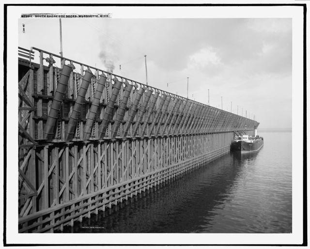 South Shore ore docks, Marquette, Mich.