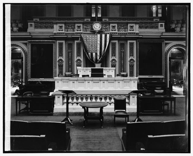 Speakers Desk, House of Representatives, [Washington, D.C.]