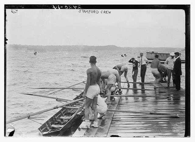 [Stanford University crew, Hudson River, New York, near Poughkeepsie]