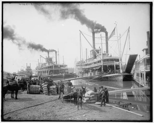 [Steamboat landing, Vicksburg, Miss.]
