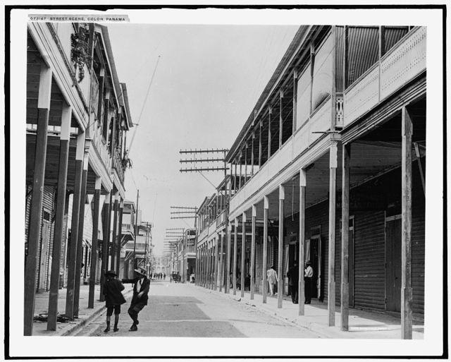 Street scene, Colon, Panama