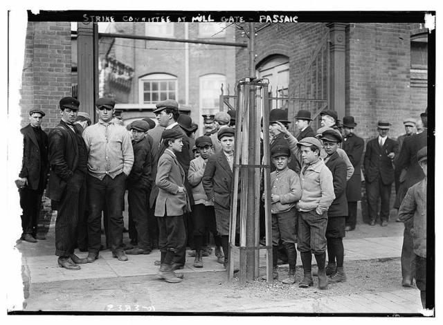 Strike Committee at Mill Gate, PASSAIC