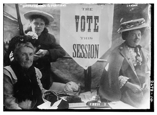 Suffragettes and petitions