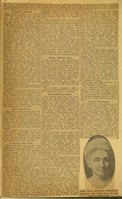 Suffragists Have Busy Day at Niagara Falls Convention; page 2
