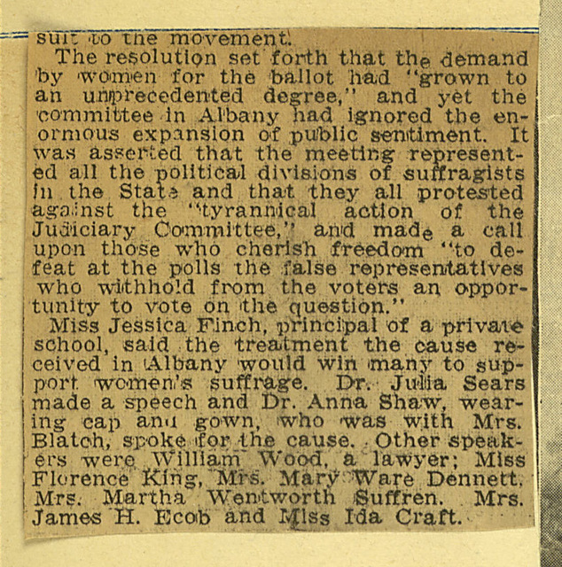 Suffragists in Storm Scold the Lawmakers; page 2