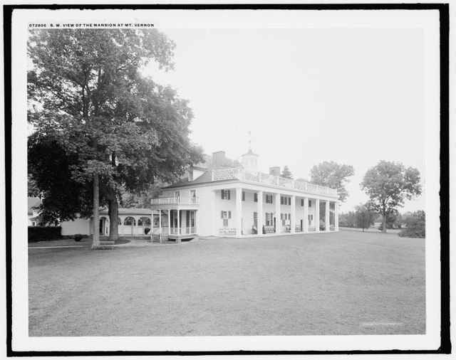 S.W. [i.e. Southwest] view of the mansion at Mt. Vernon