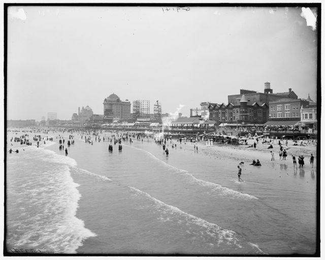 [The Beach and boardwalk, Atlantic City, N.J.]