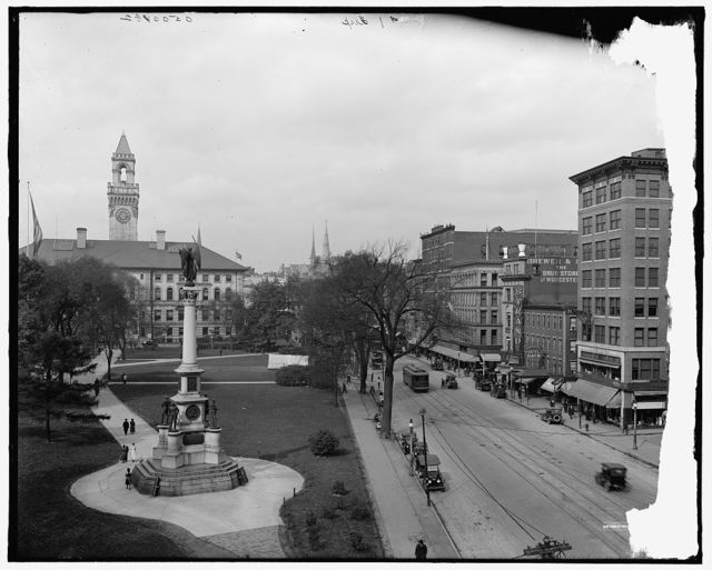 [The Common and City Hall, Front Street, Worcester, Mass.]