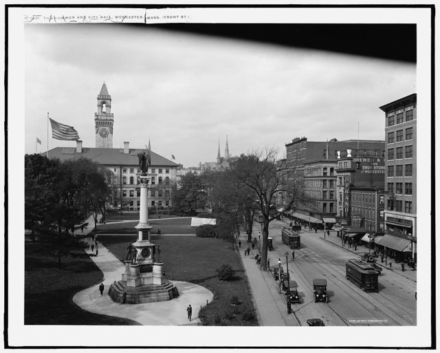 The Common and City Hall, Worcester, Mass., Front St.
