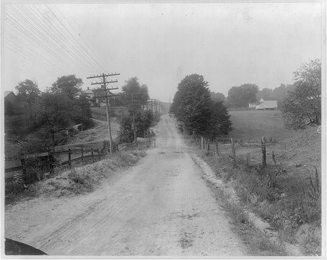 The Cumberland road one and one-half miles west of Brownsville, Pa.