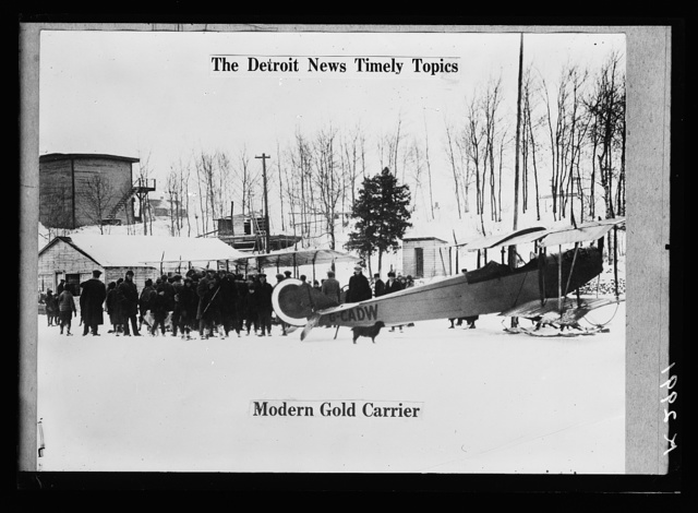 [The Detroit News Timely Topics.  Modern gold carrier]
