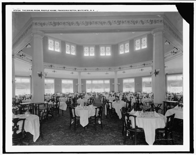 The Dining room, Profile House, Franconia Notch, White Mts., N.H.