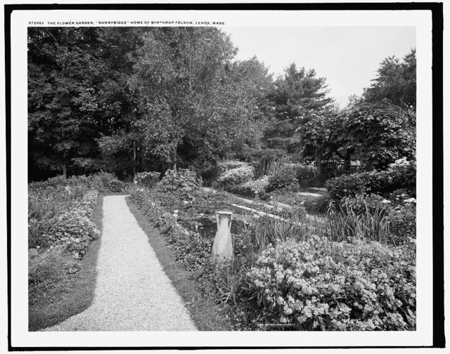 The Flower garden, Sunnyridge, home of Winthrop Folsom, Lenox, Mass.