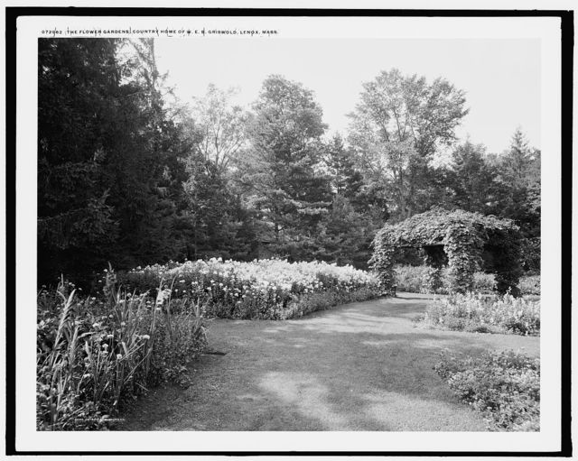 The Flower gardens, country home of W.E.S. Griswold, Lenox, Mass.