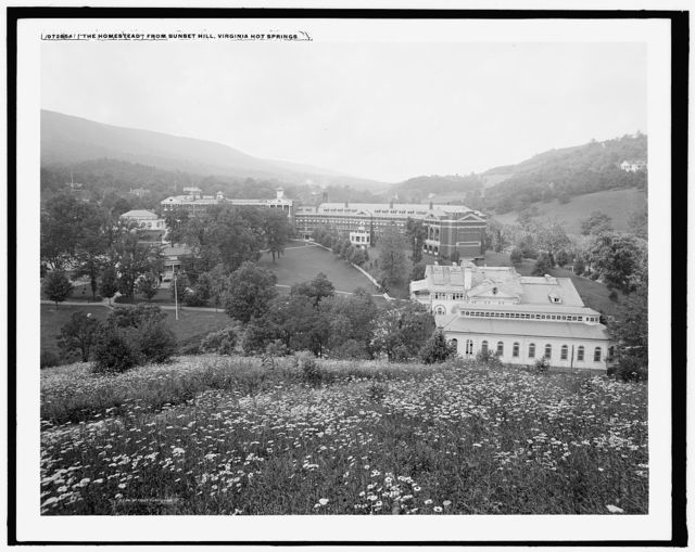 The Homestead from Sunset Hill, Virginia Hot Springs
