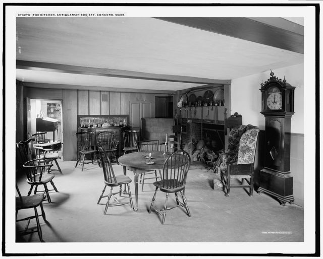 The Kitchen, Antiquarian Society, Concord, Mass.