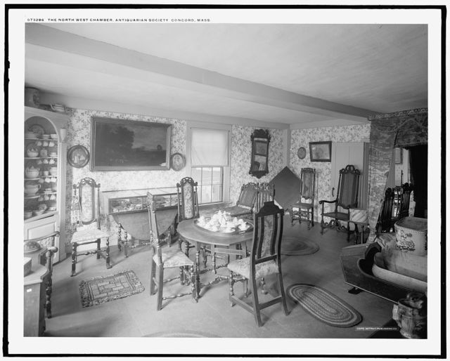 The North west chamber, Antiquarian Society, Concord, Mass.