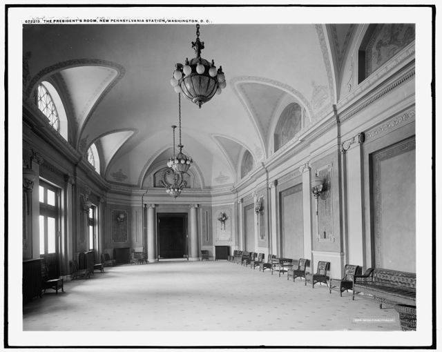 The President's room, new Pennsylvania [i.e. Union] Station, Washington, D.C.