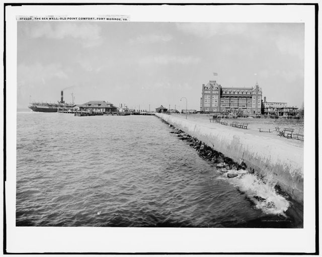 The Sea wall, Old Point Comfort, Fort Monroe, Va.