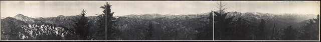 The Sierra Madres from Round Top, Mt. Wilson