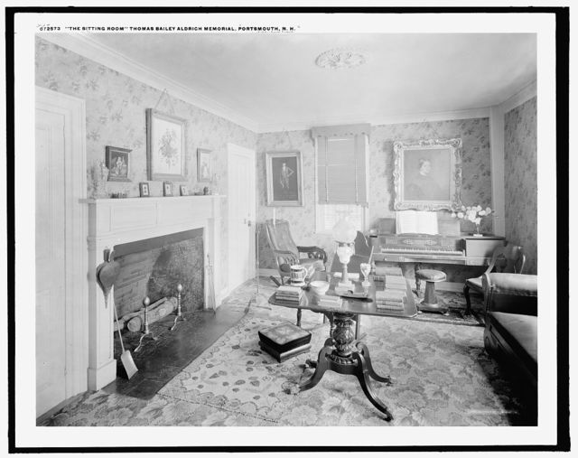 The Sitting room, Thomas Bailey Aldrich Memorial, Portsmouth, N.H.