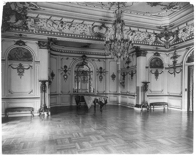 [The Townsend house, home of Sumner Welles, now the Cosmos Club, 2121 Massachusetts Ave., N.W., Washington, D.C.- interior view of richly decorated and furnished ballroom]