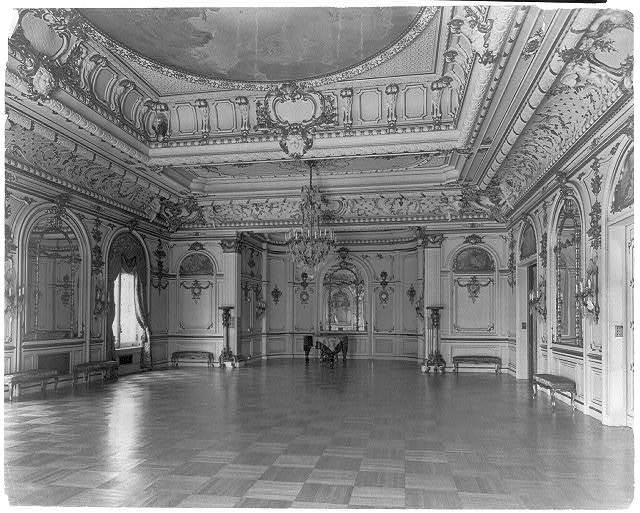 [The Townsend house, home of Sumner Welles, now the Cosmos Club, 2121 Massachusetts Ave., N.W., Washington, D.C.- interior view of richly decorated and furnished residence]