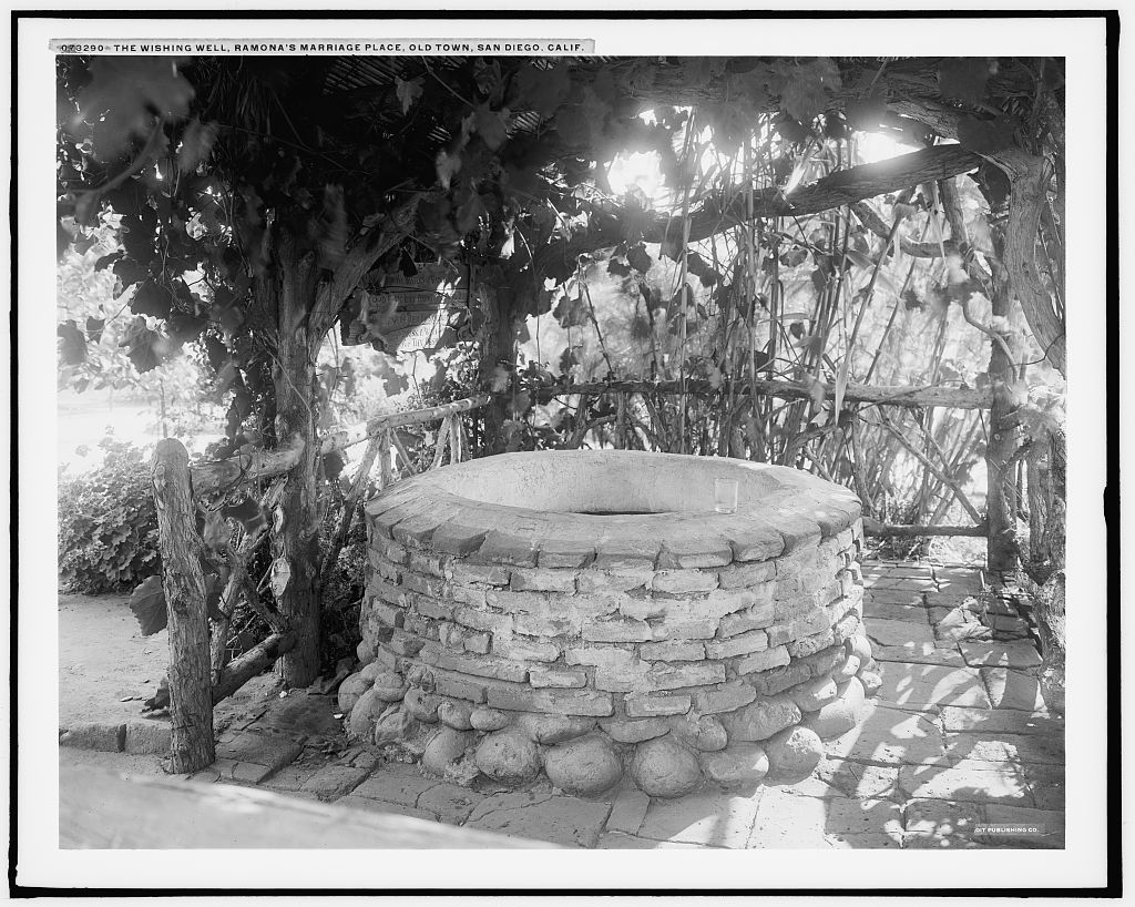 The Wishing well, Ramona's Marriage Place, Old Town, San Diego, Calif.