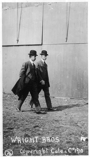 [The Wright brothers at the International Aviation Tournament, Belmont Park, Long Island, N.Y., Oct. 1910]