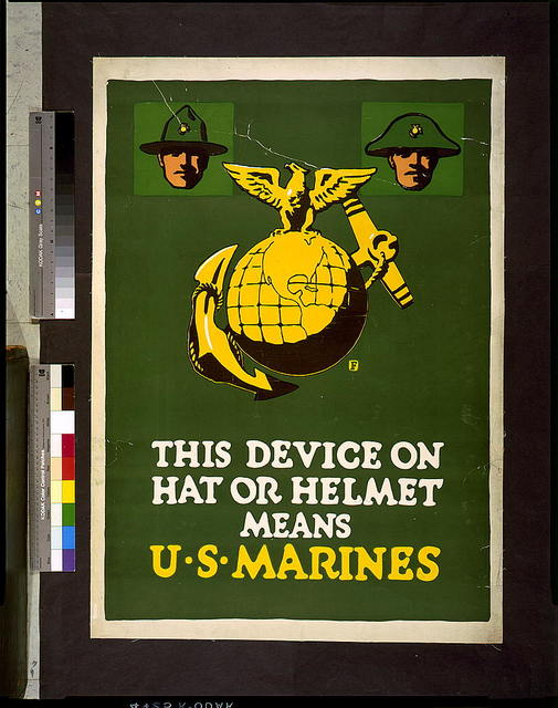This device on hat or helmet means U.S. Marines / F.