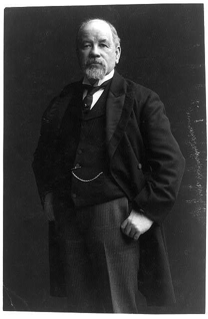[Thomas Burke, candidate to succeed Piles as senator, three-quarter length portrait, standing, facing left, thumbs in his pants pockets]
