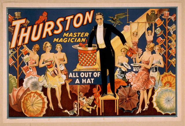 Thurston, master magician all out of a hat.