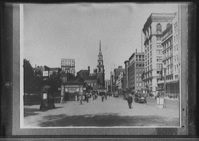 [Tremont Street and the mall, Boston Common, Boston, Mass.]
