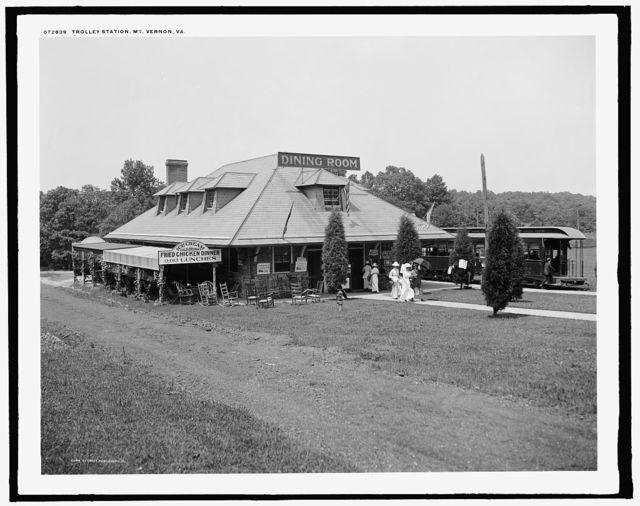Trolley station, Mt. Vernon, Va.