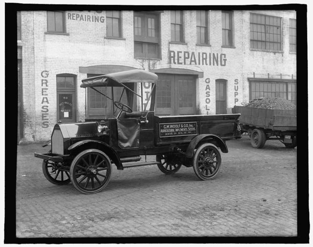 [Truck: C.M. Woolf & Co., Inc., Agricultural Implements, Seeds, 1005 B St., N.W., Washington, D.C.]