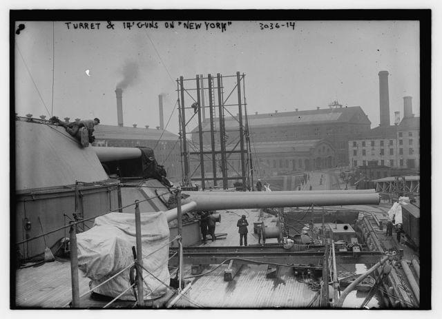 "Turret and 14"" gun on NEW YORK"