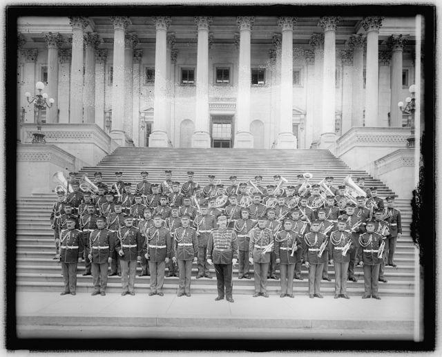 U.S. Marine Band [on steps of U.S. Capitol, Washington, D.C.]