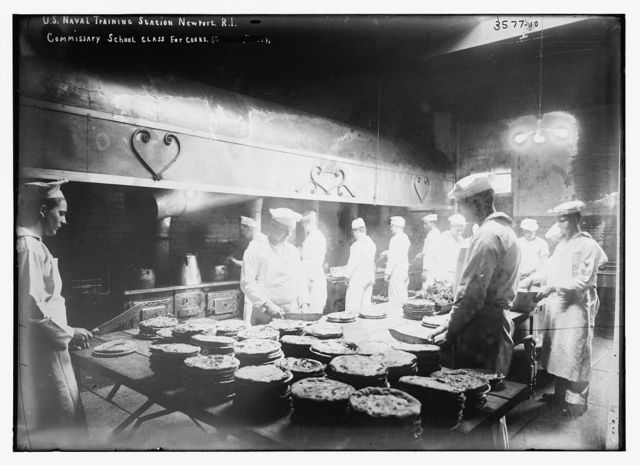 U.S. Naval training station, Newport, R.I. -- Commissary School class for cooks