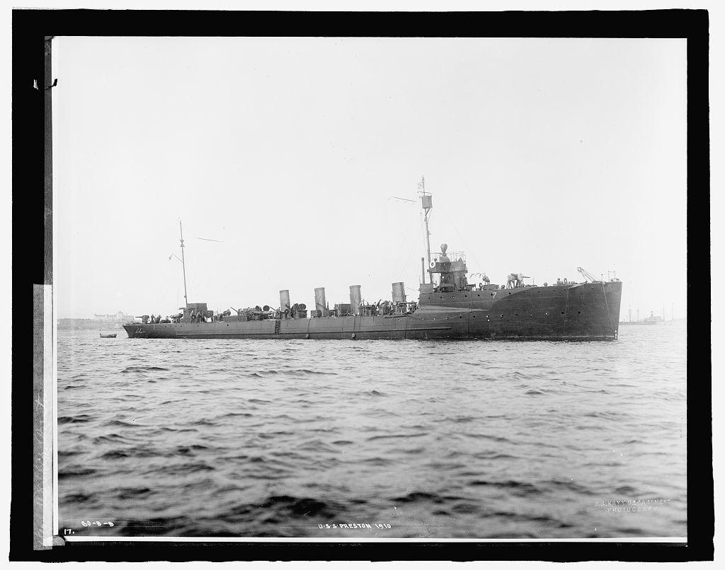 U.S. Ship Preston, 1910